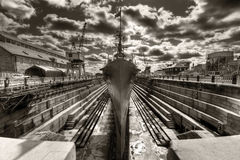 Dry Dock Royalty Free Stock Photography
