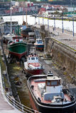 Dry dock. Old boats in dry dock Royalty Free Stock Photography