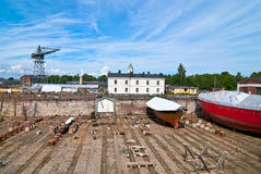Dry dock. Royalty Free Stock Images
