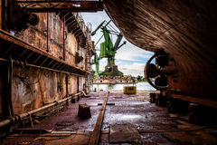 On the dry dock Royalty Free Stock Photos