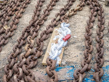 Dry Dock - boat chains Stock Images