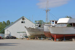 Dry Dock on Canada`s West Coast Stock Photography