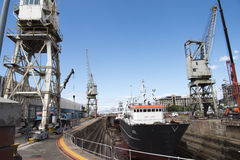 Dry dock. In Cape Town, South Africa Royalty Free Stock Images