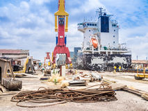 Dry Dock - cranes Stock Photography