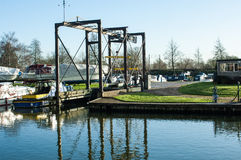 Dry dock for narrow boats Royalty Free Stock Photo