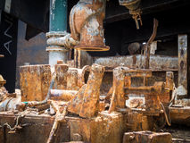 Dry  Dock - rusty metals Stock Photos