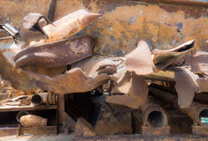 Dry  Dock - rusty metals Stock Photography