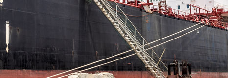 Dry Dock - ship ladder Royalty Free Stock Image