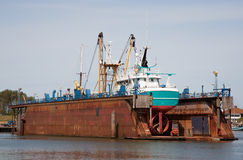Dry dock Stock Images