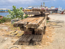 Dry Dock wood Royalty Free Stock Photos