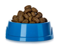 Dry dog food in bowl Royalty Free Stock Photos