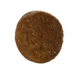 Dry dog food close-up isolated on a white Royalty Free Stock Images