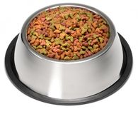 Dry Dog Pet Food Bowl. Dry dog food in a dog bowl royalty free stock photo