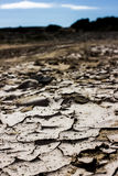 Dry. A dried out puddle in Cornwall Stock Photography