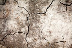 Dry drought land background. Cracked soil, hot climate dehydration concept.  royalty free stock image