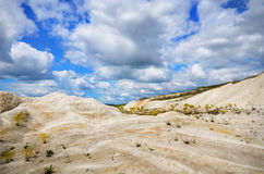 Dry dunes under the blue sky Stock Photo