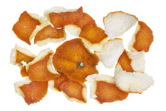 Dry dusty orange peel Royalty Free Stock Photography