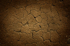 Dry earth with cracks background. Grunge earth image with cracks. With vignetting Royalty Free Stock Images