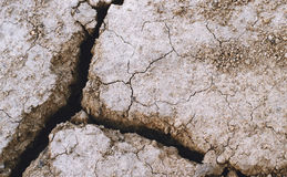 Dry earth with deep cracks Stock Image