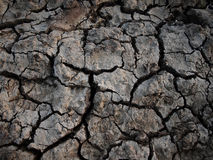 Dry Earth in a Drought. Abstract Nature Background of Dry Cracked Earth in a Drought Royalty Free Stock Image