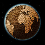 Dry Earth in space Royalty Free Stock Photos