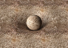 Dry earth sphere is affecting space around it Stock Photos