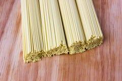Dry egg noodles. Chinese egg noodles close-up. Chinese egg noodles close-up Royalty Free Stock Photography