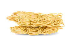 Dry egg noodles Stock Images