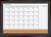 Dry erase calendar board stock photography