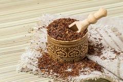 Dry ethnic african rooibos tea Stock Photo
