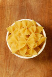 Dry farfalle Pasta Royalty Free Stock Photo