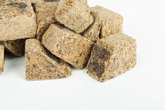 Dry feed for fish. Royalty Free Stock Photo