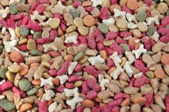 Dry feed for pets Royalty Free Stock Image