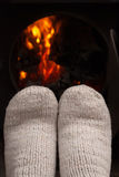 Dry the feet of fire Stock Photos