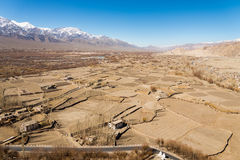 Dry field in winter season Royalty Free Stock Image