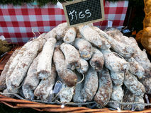 Dry fig sausages Stock Images