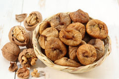 Free Dry Figs And Nuts Stock Photo - 27294930