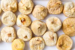 Dry figs background. Bunch of dry figs forming a background Royalty Free Stock Photography