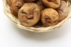 Dry figs  in a basket Stock Photography