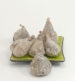 Dry figs. On white background Royalty Free Stock Photography