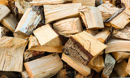 Dry Firewood. Dry split firewood ready for winter time Stock Photography