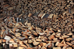 Dry firewood. Ready for the oven Royalty Free Stock Photography