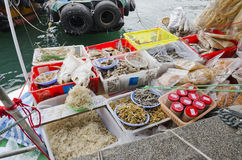 Dry Fish and Other Seafood Stock Photo