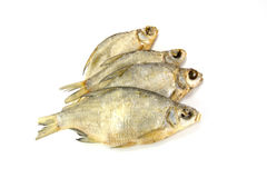 Dry fish. Dry, salted fish is  on a white background Stock Photo