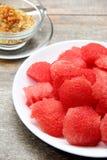 Dry fish watermelon Stock Photos