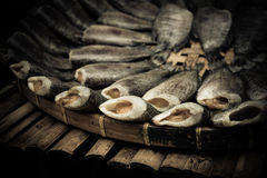 Dry fishes. The taste very good. this my favourite fish Stock Image