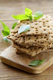 Dry flat bread crisps with herbs Stock Images