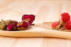Dry floral herbal tea Stock Images