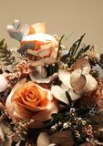 Dry flower bouquet with roses Royalty Free Stock Photos