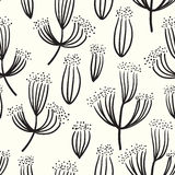 Dry flower seamless pattern background Royalty Free Stock Photos